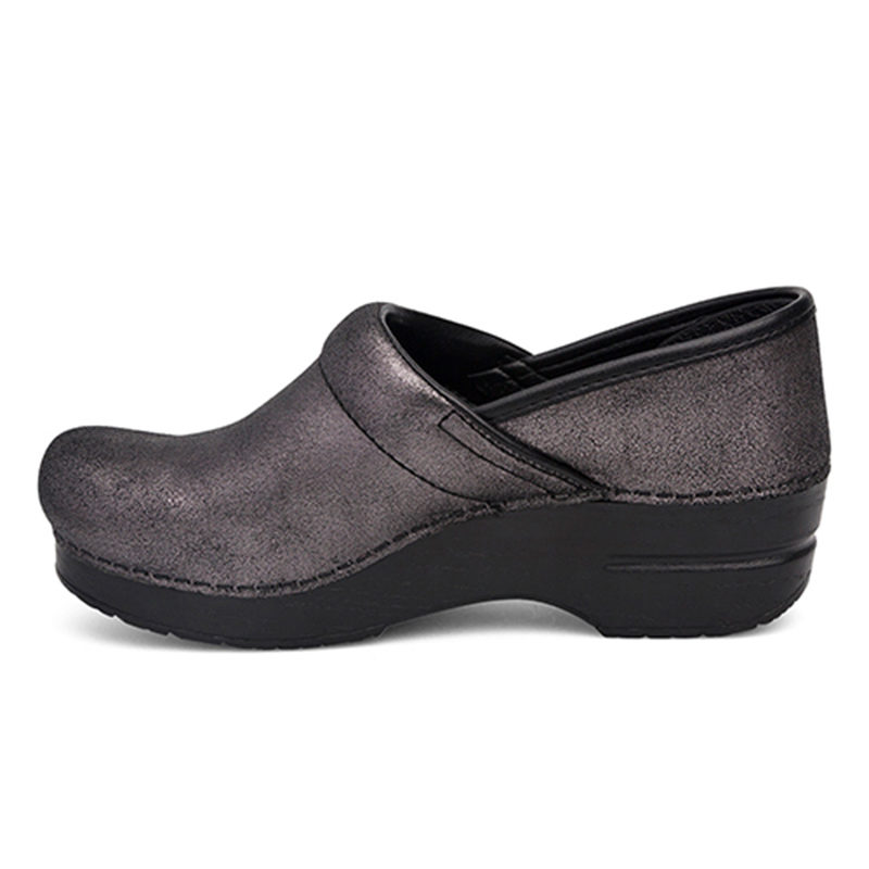 Dansko Professional Black Metallic lato