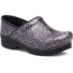 Dansko Professional Grey Tooled Patent